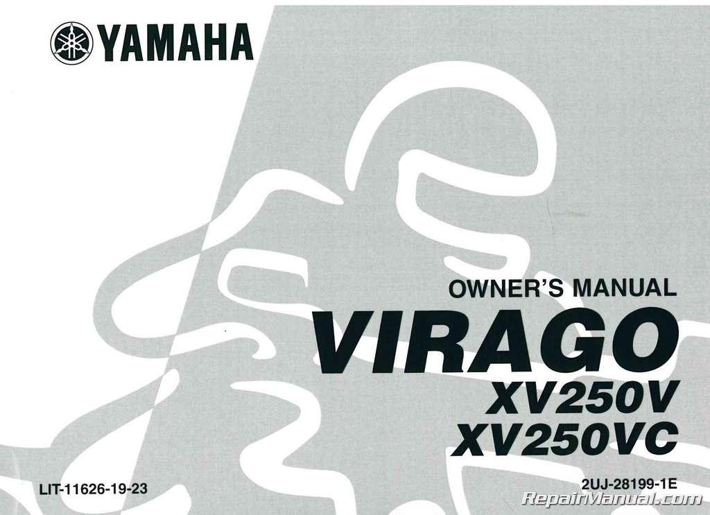 1982 yamaha virago 750 service manual download