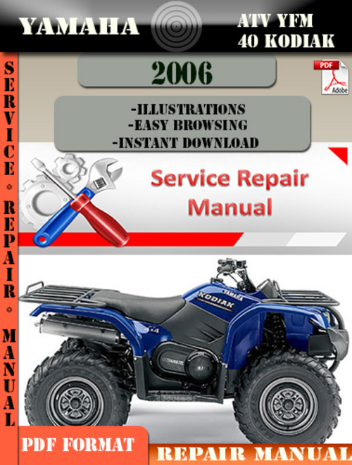 2001 yamaha kodiak 400 4x4 service manual