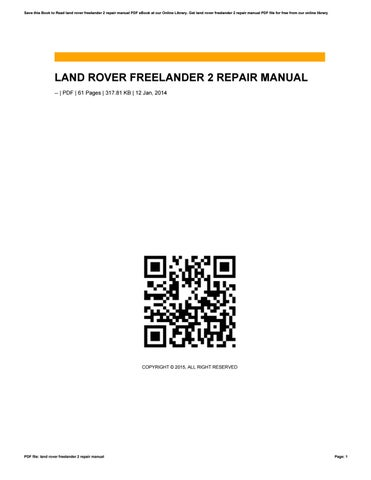 freelander 2 workshop manual pdf