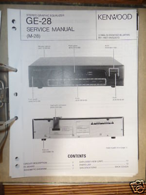 kenwood ge 850 user manual