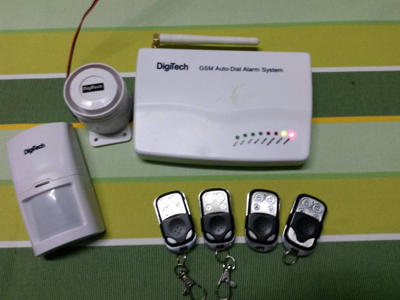 digitech gsm auto dial alarm system user manual