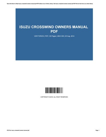 2014 isuzu npr owners manual pdf