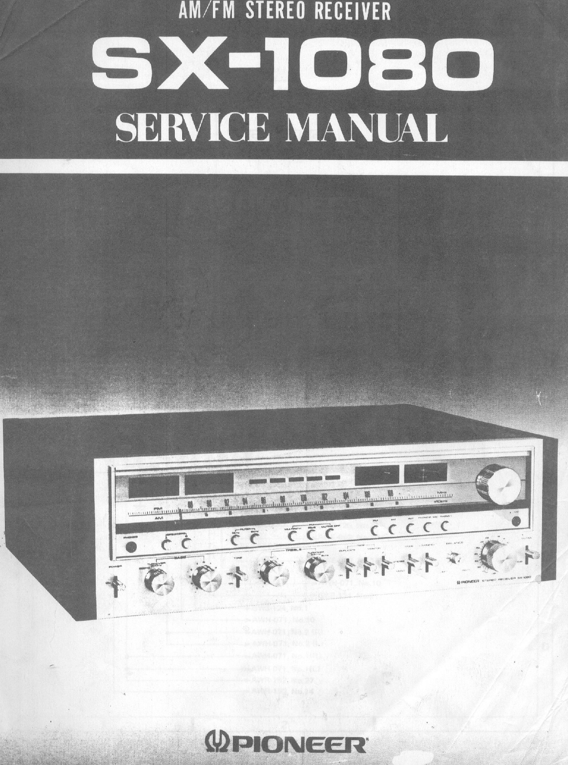 pioneer sx 205 user manual