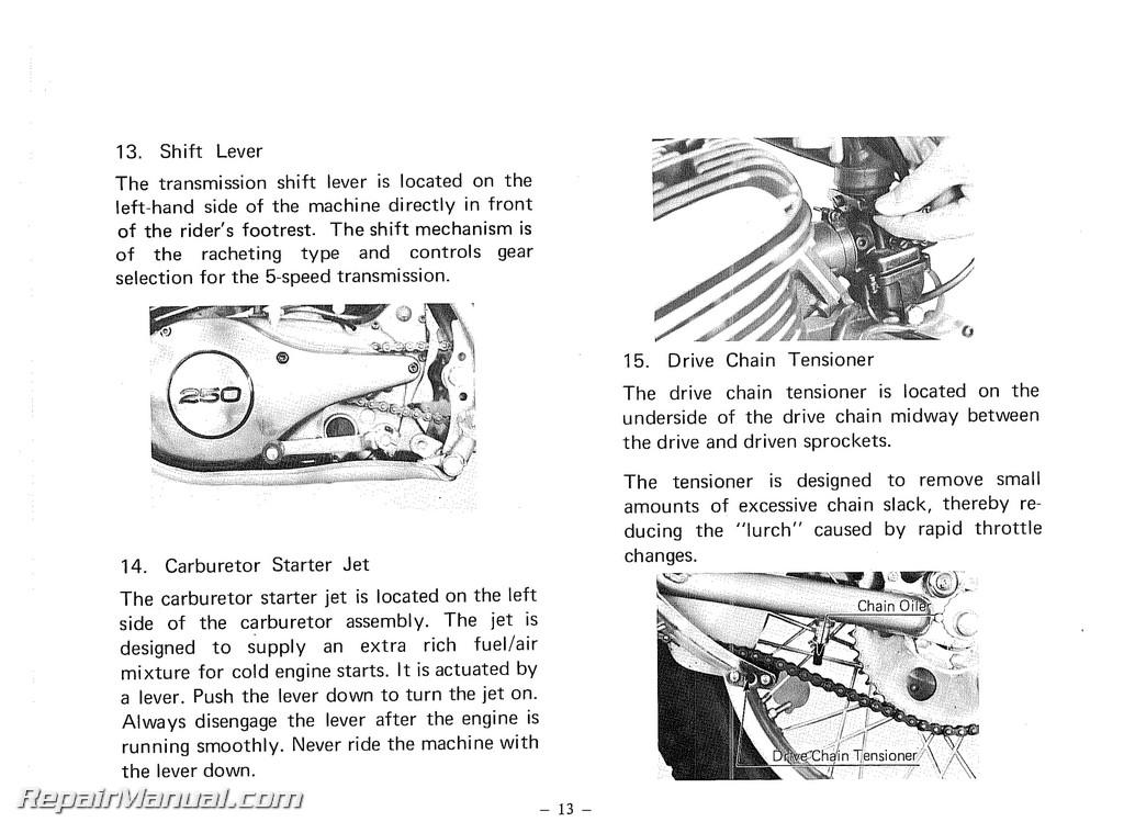 1978 yamaha yz80 owners manual