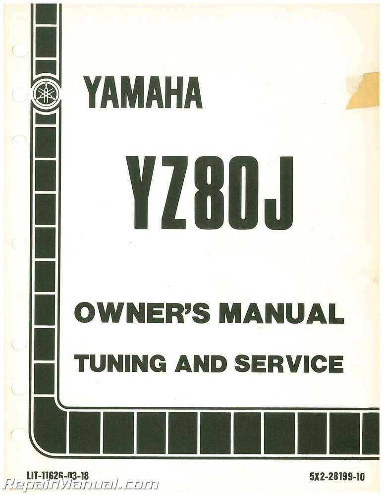 1978 yamaha yz80 owners manual