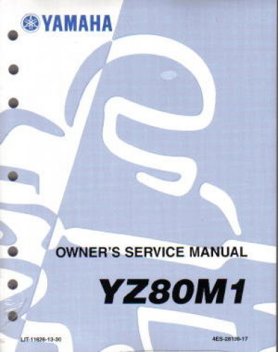 1993 yamaha yz80 owners manual