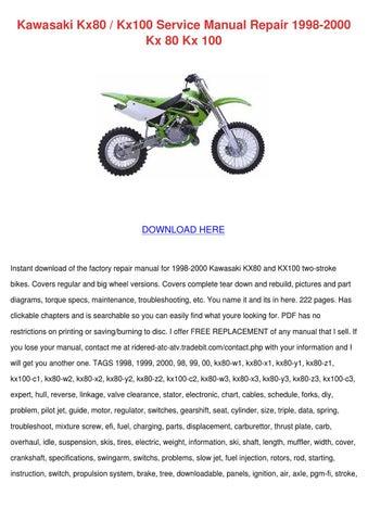 1998 kx 125 service manual pdf
