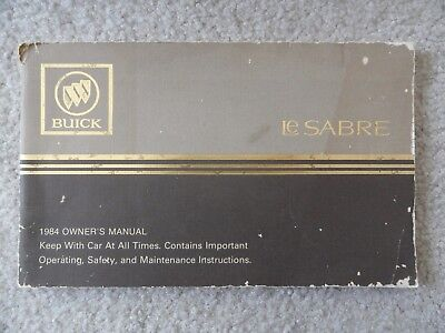1997 buick lesabre owners manual