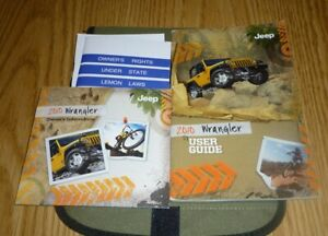 2010 jeep wrangler sahara owners manual