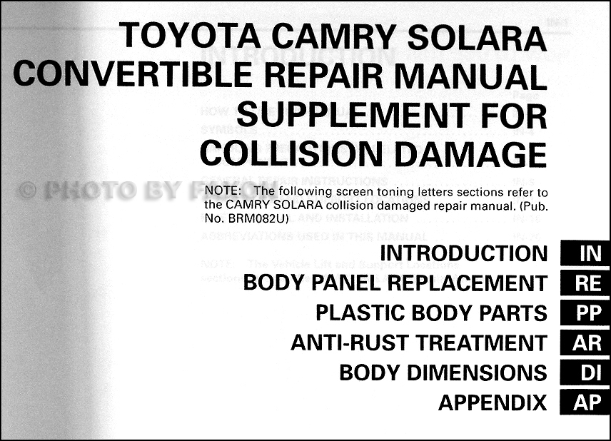 2000 toyota camry solara owners manual