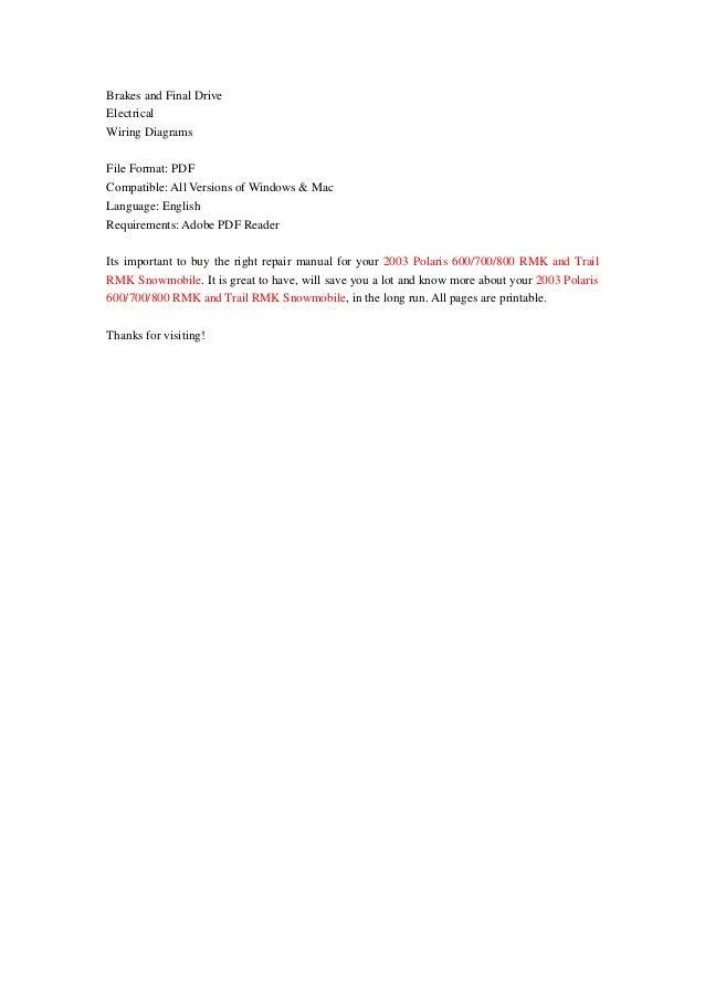 2003 polaris rmk 800 service manual