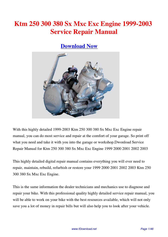 2004 ktm 300 exc service manual