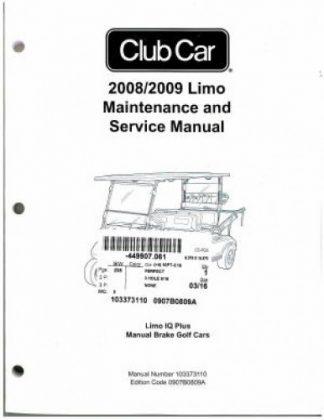 2006 club car precedent service manual