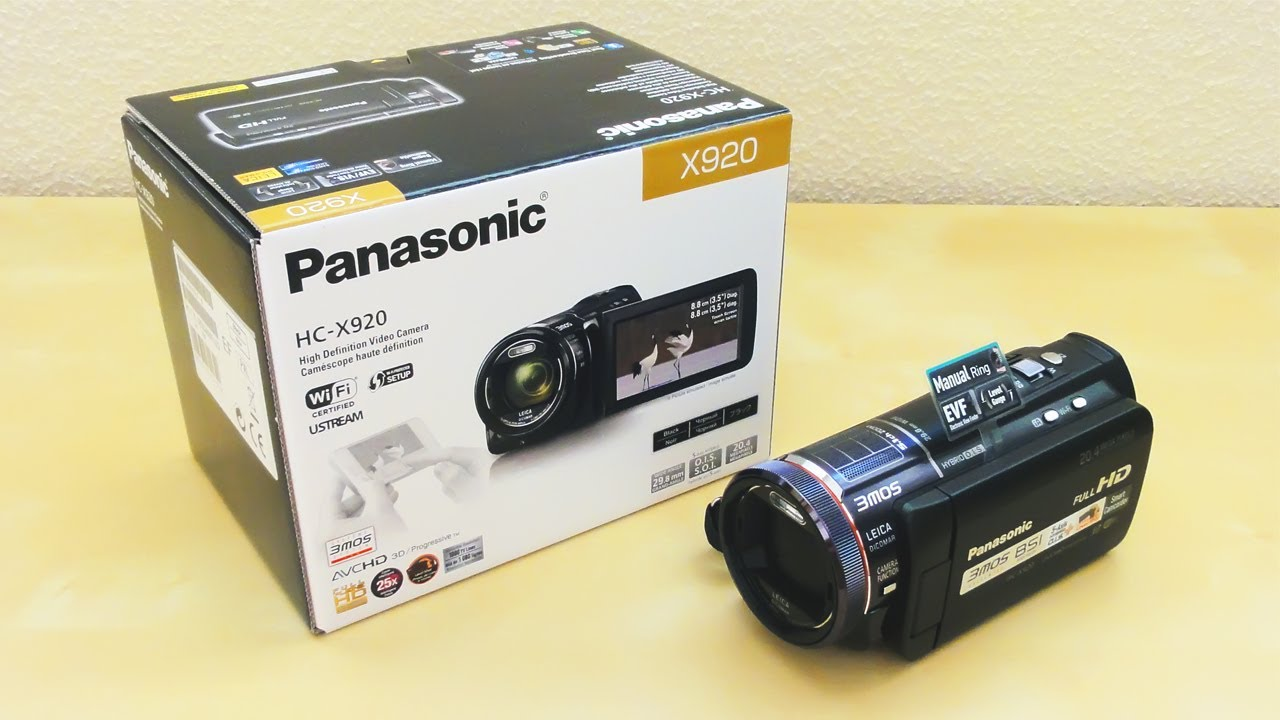 panasonic hc x920 owners manual pdf