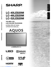 sharp aquos owner manual for tv