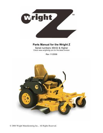 wright stander mower service manual