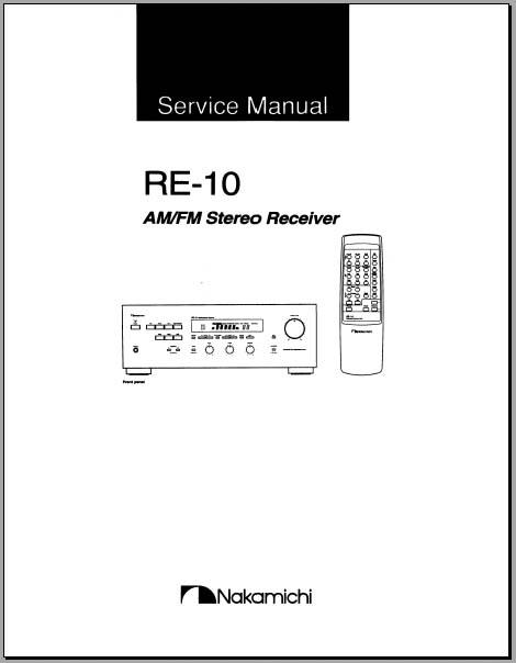 nakamichi re 2 service manual