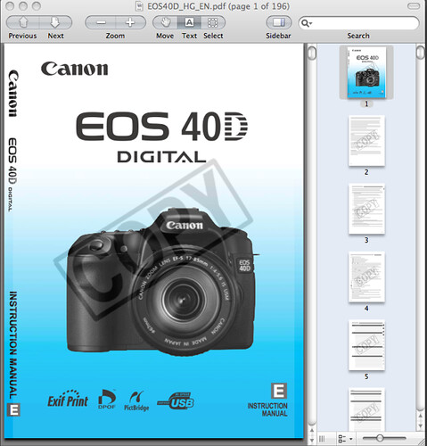 canon 50d user manual download