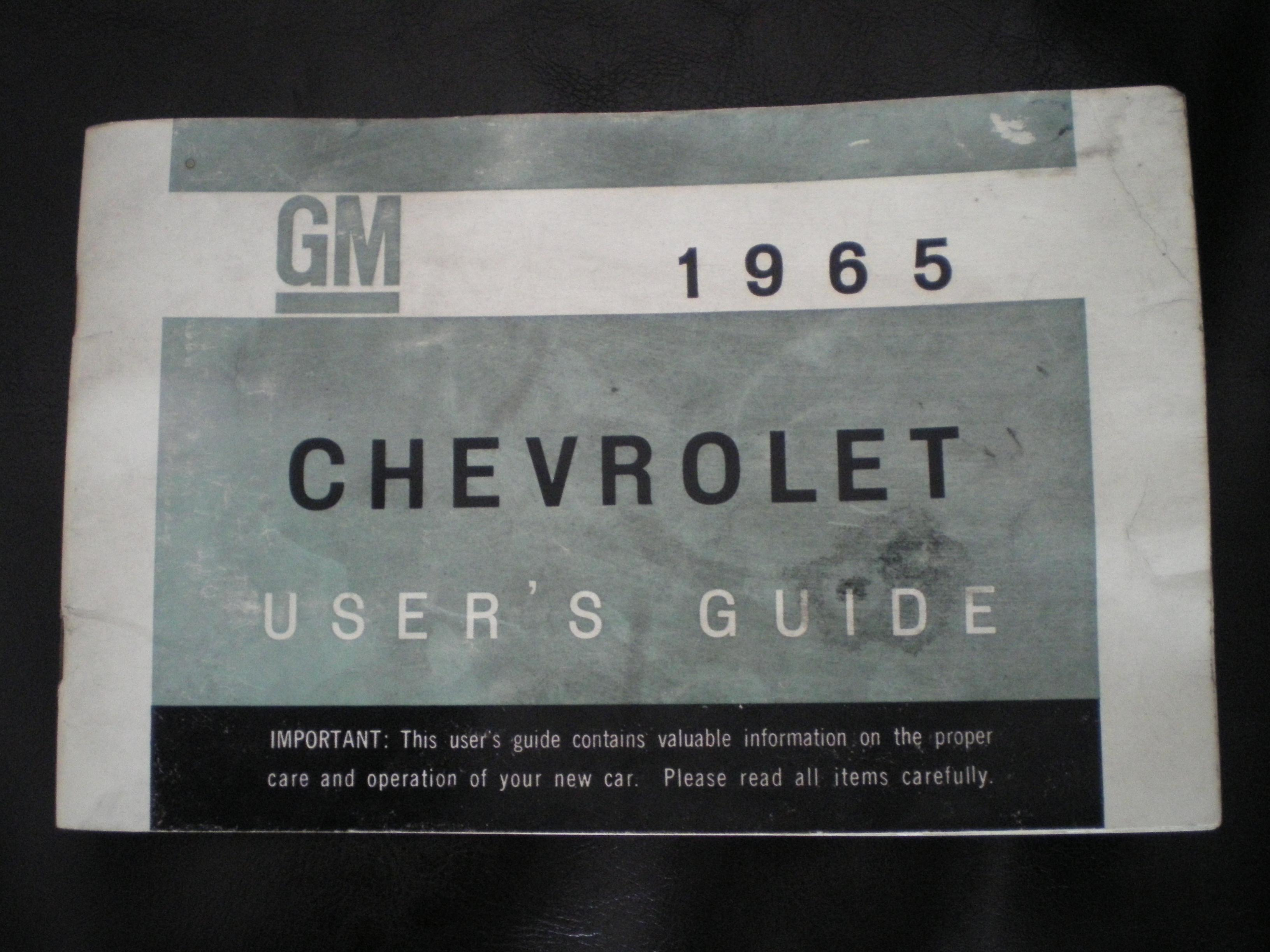 1965 chevy impala super sport owners manual
