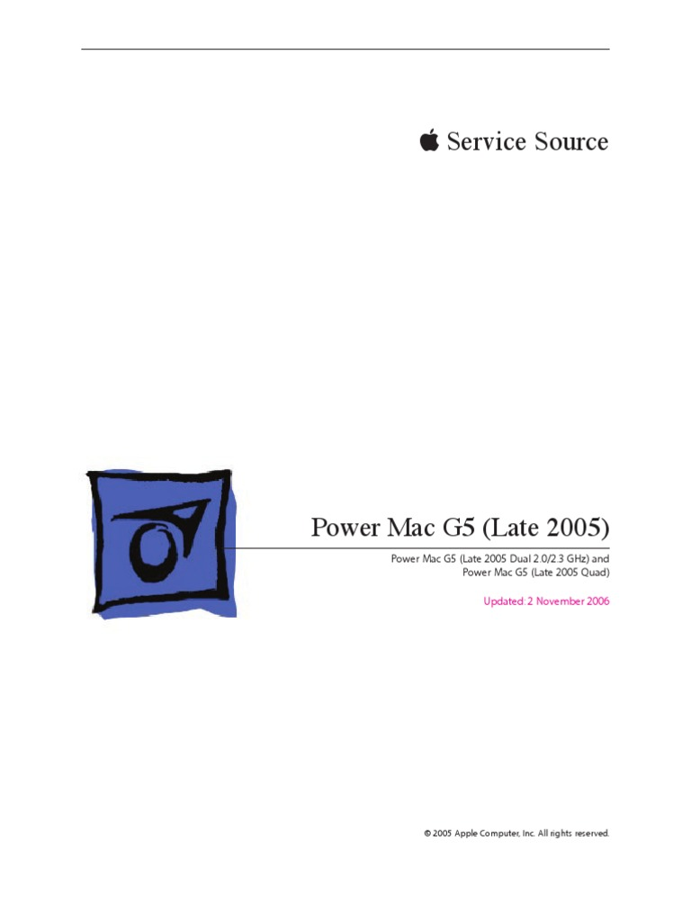 apple power mac g5 service manual