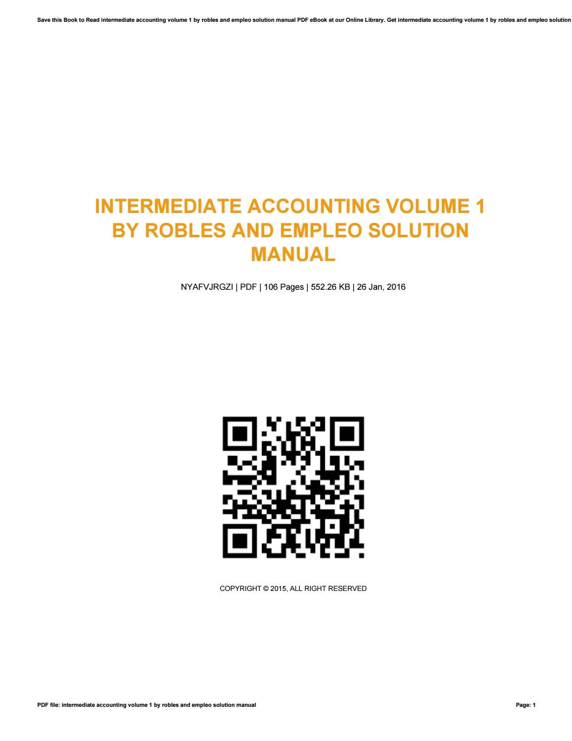 intermediate accounting vol 2 by robles and empleo solution manual