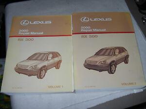 2000 lexus rx300 repair service manual download