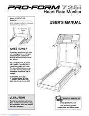 proform 725 treadmill owners manual