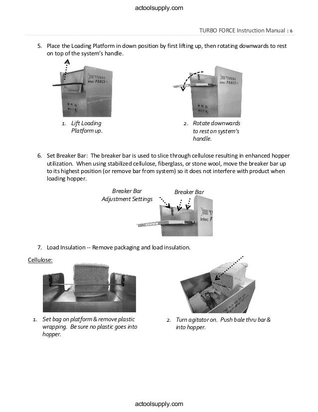 force 2 insulation blower manual