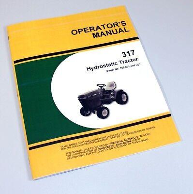john deere lawn mower owners manual
