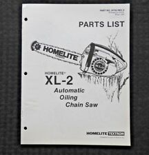 homelite xl2 chainsaw owners manual