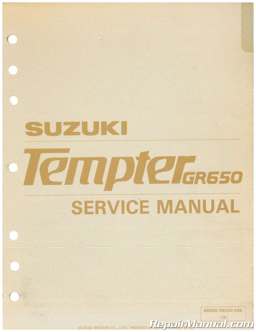 1983 gr650 tempter owners manual