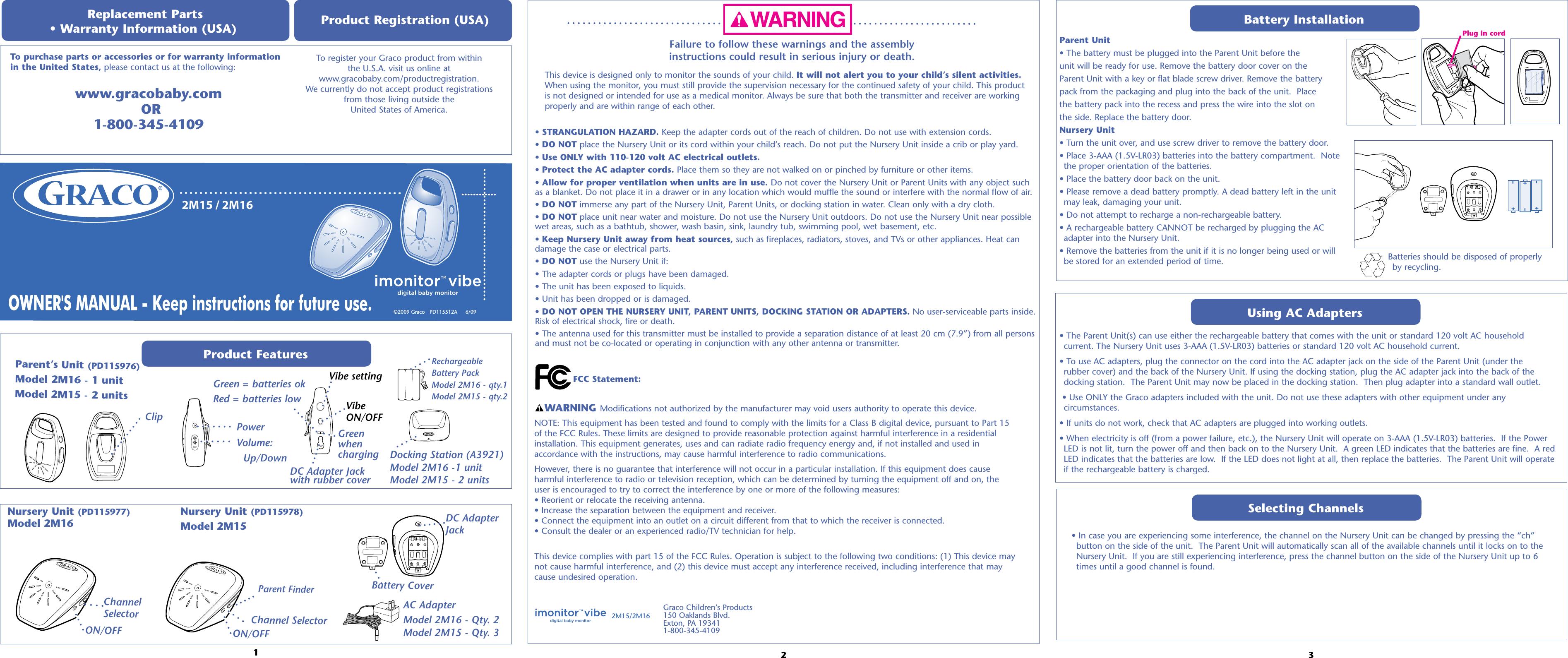 graco baby monitor user manual
