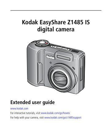 kodak easyshare cx7530 user manual