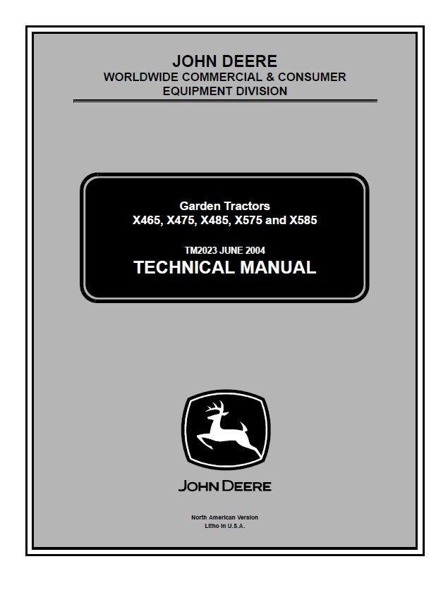 john deere x475 service manual pdf