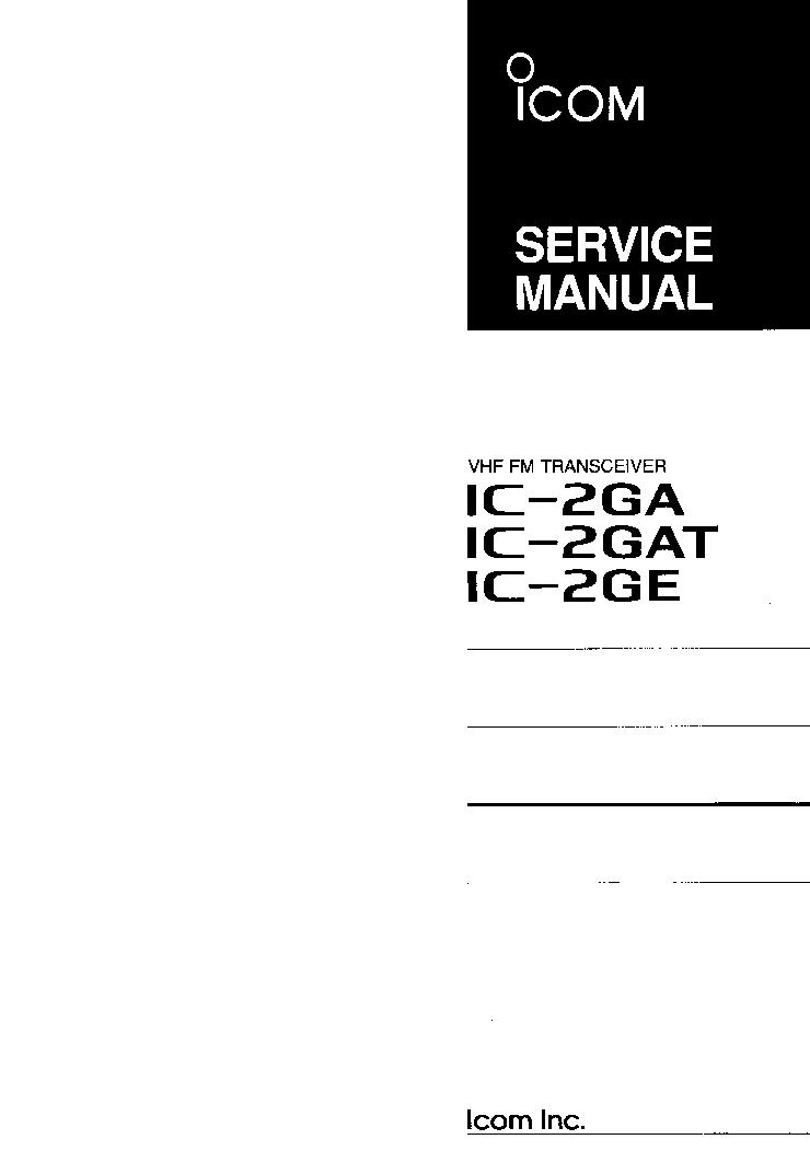 icom ic v200t service manual