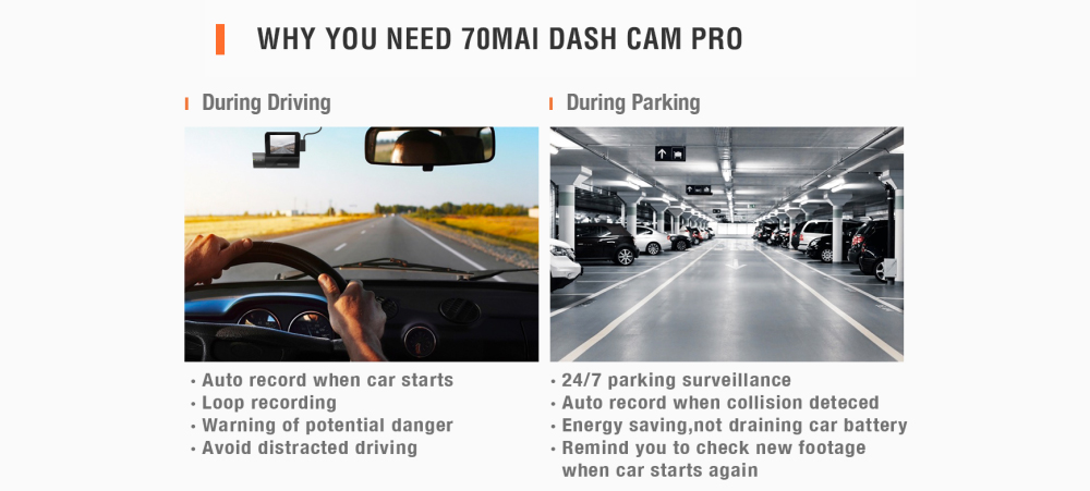 70mai pro dash cam user manual