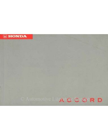 1994 honda accord owners manual