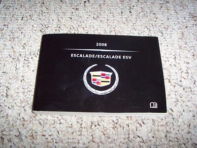 2008 cadillac escalade owners manual