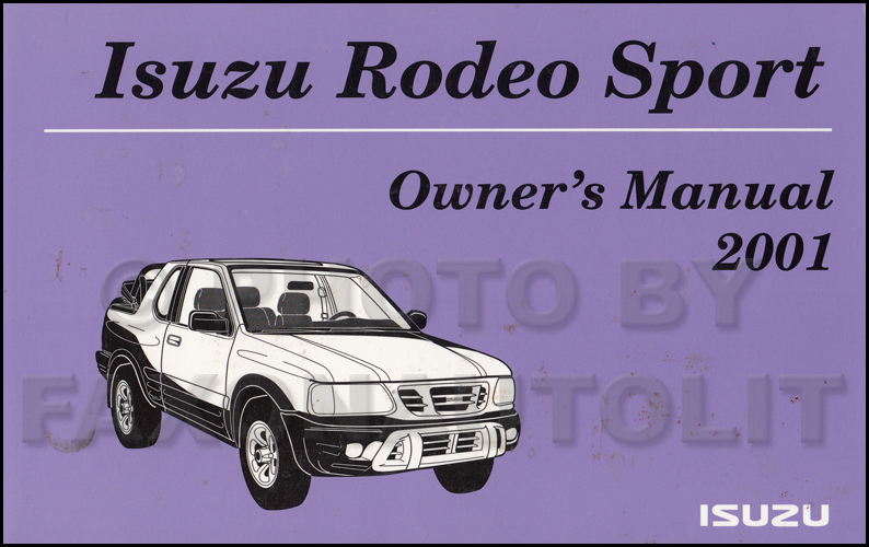00 isuzu rodeo owners manual