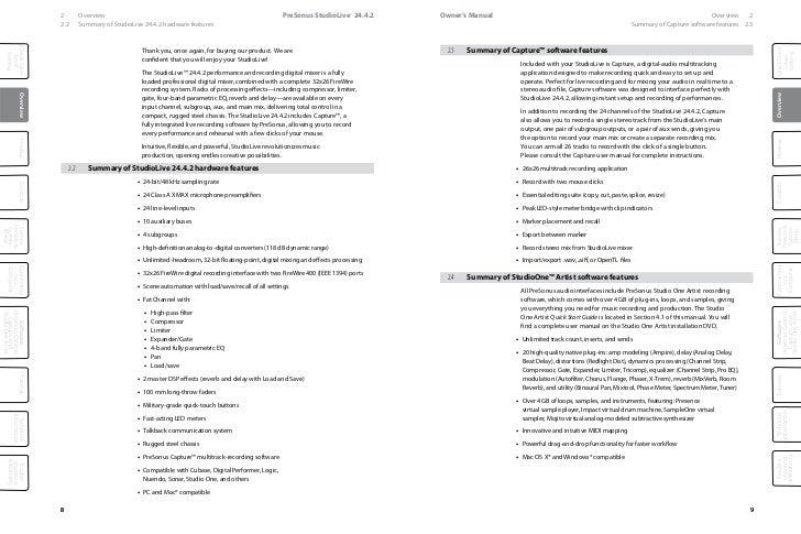 presonus studiolive 24.4 2 manual