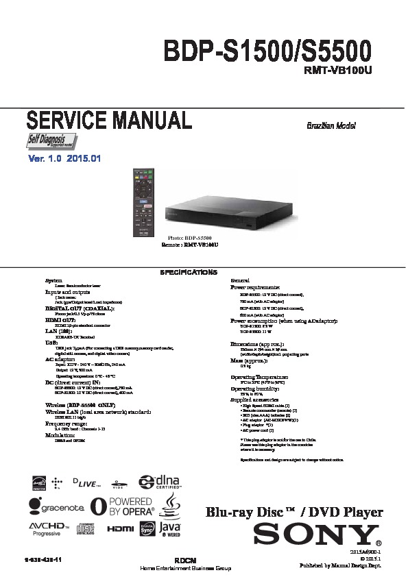 sony bdp s3500 user manual
