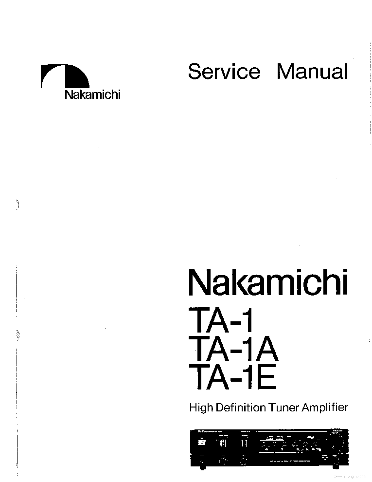 nakamichi av 10 user manual