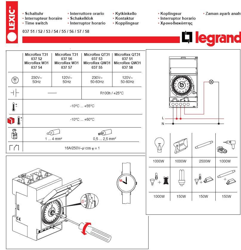 legrand 037 00 user manual