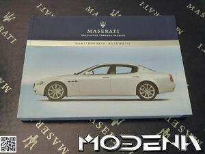 2007 maserati quattroporte owners manual