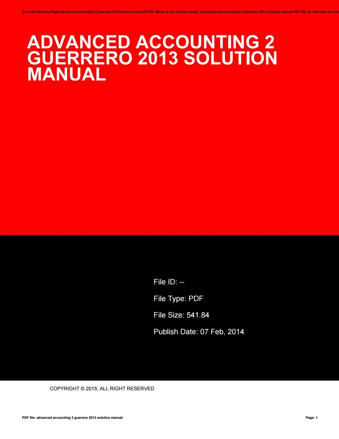 advanced accounting 2 guerrero 2017 solution manual pdf
