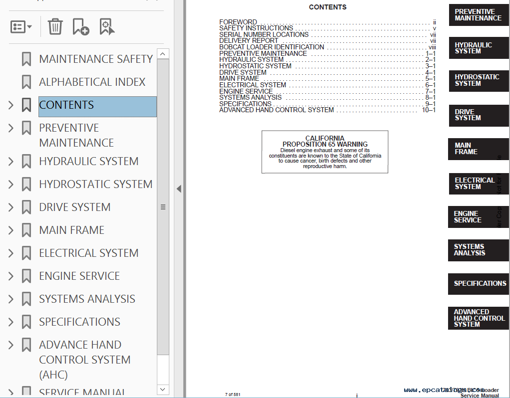 bobcat 763 service manual pdf