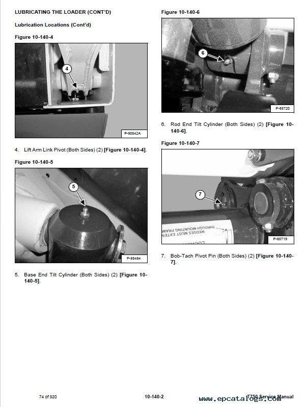 bobcat t750 service manual pdf