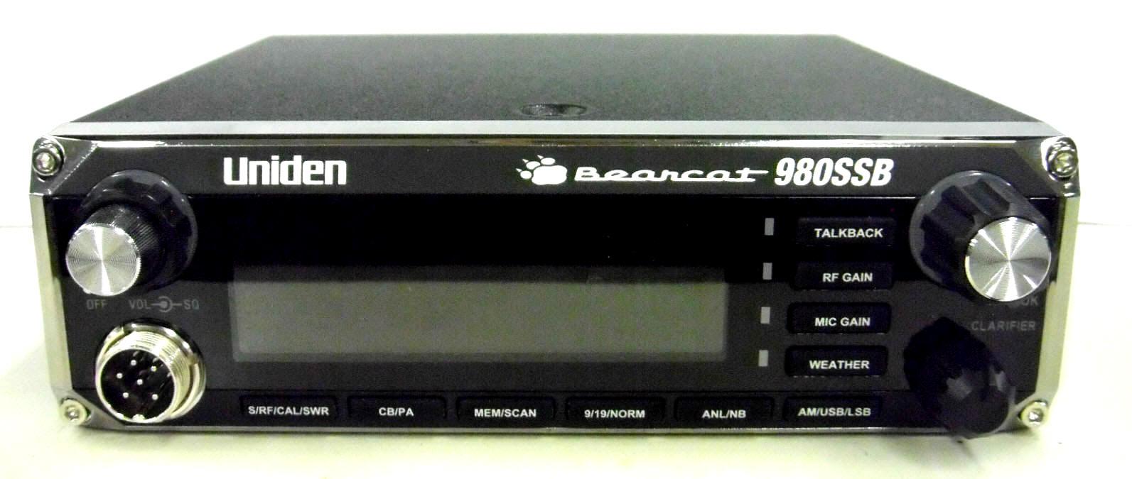 uniden bearcat 980 ssb owners manual