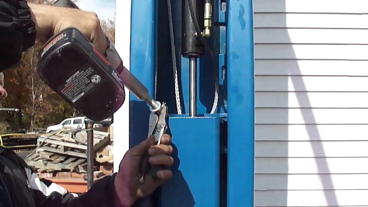 2 post lift install manual