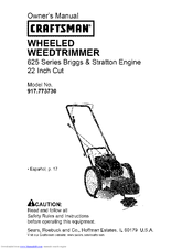 craftsman briggs and stratton 625 series owners manual
